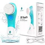 MiroPure Sonic Rechargeable Facial Cleansing Brush, 3D Brush Heads Design,Vibration Waterproof Facial Cleansing Brush,3 Brush Heads and 3 Settings,Deep Cleansing,Gently Exfoliate and Blackhead Removal