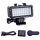 Suptig Diving Light High Power Dimmable Waterproof LED Video Light Fill Night Light Diving Underwater Light Waterproof 147ft(45m) for Gopro Hero 6/5/5S/4/4S/3+/2/SJCAM/YI Action Cameras