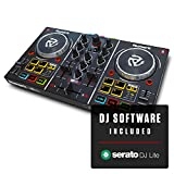 Numark Party Mix   Beginners DJ Controller for Serato DJ Intro With 2 Channels, Built In Audio...