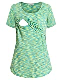 Product review of Hellmei Women's Short Sleeve Maternity Layered Nursing Tops for Breastfeeding