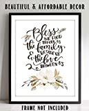 'Bless This Food, Family-Love Us'- Meal Prayer w/Floral Wall Art Print-8 x 10'- Ready to Frame. Modern, Elegant Home Décor-Kitchen-Dining Décor- Christian Gifts & Decor- Perfect Housewarming Gift.