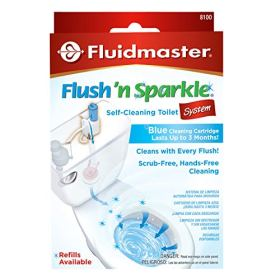 Fluidmaster 8100 Flush 'n Sparkle Automatic Toilet Bowl Cleaning System, Blue