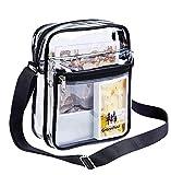 Clear Messenger Bag for Work & Business Travel for Men & Women,NFL Stadium Approved - Transparent Cross-Body Shoulder Bag for Security & Sporting Event