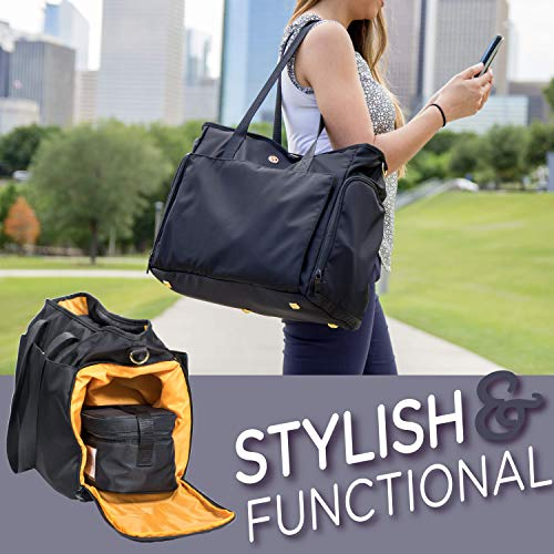 Zohzo Lauren Breast Pump Bag - Portable Tote Bag Great for Travel or Storage – Includes Padded Laptop Sleeve - Fits Most Major Pumps Including Medela and Spectra... 3 Fashion Online Shop gifts for her gifts for him womens full figure