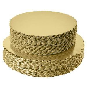 [25pcs]10″ Gold Cakeboard Round,Disposable Cake Circle Base Boards Cake Plate Round Coated Circle Cakeboard Base 10inch,Pack of 25 5159CHuj pL