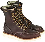 Thorogood 814-3800 Men's 8' Moc Toe, MAXwear Wedge Waterproof Non-Safety Toe, Briar Pitstop - 10 D US