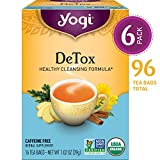 Yogi Tea - DeTox Tea - Healthy Cleansing Formula With Traditional Ayurvedic Herbs - 6 Pack, 96 Tea Bags Total