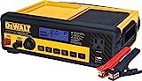 DEWALT DXAEC80 30 Amp Bench Battery Charger: 80 Amp Engine Start, 2 Amp Maintainer, 120V AC Outlet, 3.1A USB Port, Battery Clamps
