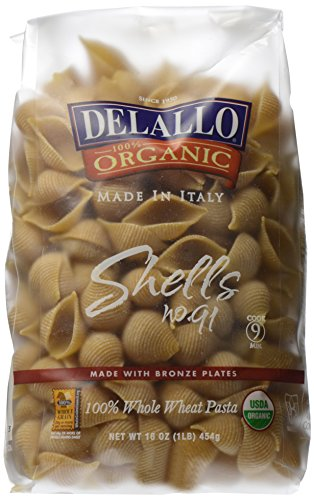 DeLallo Organic Whole Wheat Shells No.91 - 1 lb