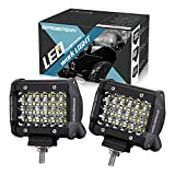 LED Pods, OFFROADTOWN 4inch 144W QUAD Row LED Light Bar OSRAM Work Light Spot Beam Off road Driving Fog lights Waterproof LED Cubes for Truck Jeep Boat