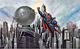 DC Comics Superman Prepasted Large Wallpaper Accent Mural