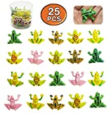 MICHLEY 25pcs 0.9 in Plastic Frogs Toy Mini Frogs