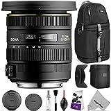 Sigma 10-20mm f/3.5 EX DC HSM ELD SLD Wide-Angle Lens for Nikon DSLR Cameras w/Essential Photo and Travel Bundle