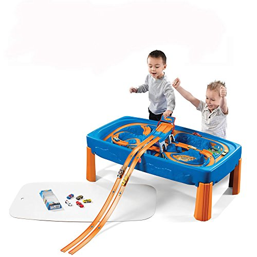 step2 hot wheels car and track play table for kids durable convertible racetrack activity desk