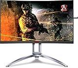 AOC Agon AG273QCX 27' Curved Gaming Monitor, 2K QHD, FreeSync 2 DisplayHDR 400, 144Hz, 1ms, HA, DisplayPort/HDMI, VESA