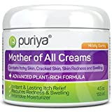 Puriya Plant Based Cream for Eczema, Psoriasis, Dermatitis and Rashes. Excellent Relief for Irritated, Severely Dry and Cracked Skin (Mildly Earthy, 4.5 oz)