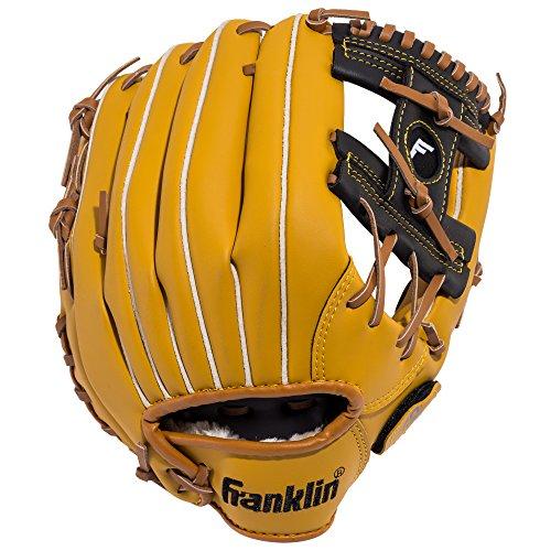 Franklin Sports Baseball and Softball Glove - Field Master - Baseball and Softball Mitt - Adult and Youth Glove - Right Hand Throw - 11'