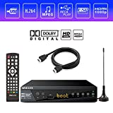 Digital TV Converter Box, Digital Converter for Analog TV, HD 1080P TV with Recorder, ATSC HDTV Digital Converter with Tuner, Pause Live, Multiple USB Playback