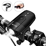 BIGO LED Bike Lights USB Rechargeable Bike Front Light 900 Lumens Super Bright Bicycle Lights Bike Headlight IP65 Waterproof 3 Light Modes Easy to Install for Cycling Safety Flashlight (Black1)