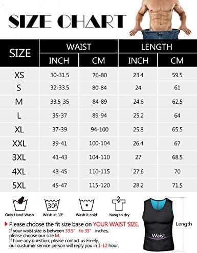 Men Neoprene Waist Trainer Sauna Sweat Suit Workout Vest Tank Top Tummy Control Shapewear Slimming Body Shaper 7