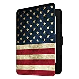 Fintie Slimshell Case for Kindle Paperwhite - Fits All Paperwhite Generations Prior to 2018 (Not Fit All-New Paperwhite 10th Gen), US Flag
