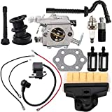 Dalom MS250 Carburetor + Ignition Coil + Air Filter Tune Up Kit for Stihl 021 023 025 MS210 MS230 MS 250 Chainsaw Replace WT-286 Carb # 1123-120-0605