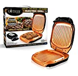 Gotham Steel 2053 Low Fat Multipurpose Sandwich Grill Nonstick Copper Coating - As Seen on TV, Large, Black