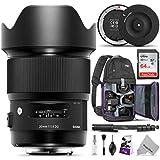 Sigma 20mm F1.4 Art DG HSM Lens for Canon EF DSLR Cameras w/Sigma USB Dock & Advanced Photo and Travel Bundle