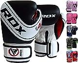 RDX Kids Boxing Gloves Maya Hide Leather 4oz 6oz Junior Punch Bag MMA Training Muay Thai Mitts