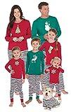 PajamaGram Family Christmas Pajamas Soft - Red/Green, Toddler, 3T