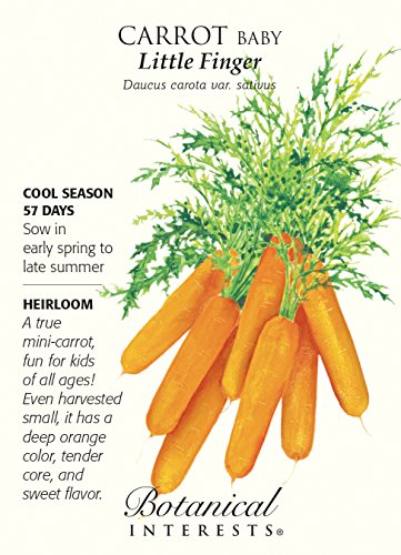 Baby Little Fingers Carrot Seeds 1.5 grams - Heirloom