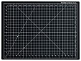 Dahle Vantage 10672 Self-Healing 5-Layer Cutting Mat Perfect for Crafts and Sewing 24' x 18' Black Mat