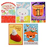 Hallmark Baby's 1st for All Seasons Card Assortment, Halloween/Thanksgiving/Christmas/Valentine's Day/Easter (5 Cards with Envelopes)