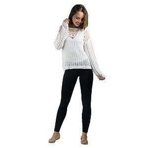 Blusa Banna Hanna Vazada Em Trico Branco