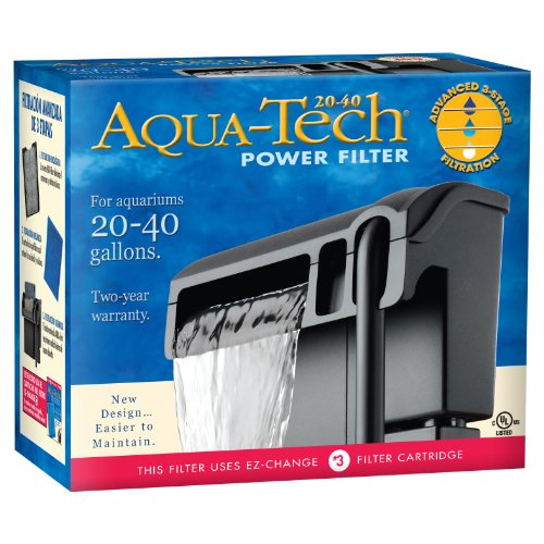 AQUKI Aqua-Tech Power Aquarium Filter, 20 to 40-Gallon Aquariums