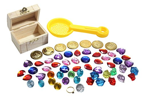 Pirate Buried Treasure Themed Sand Toy with Treasure Chest - Sand Toy, Beach Toy, Sandbox Toy, Wet Sand Sensory Bin