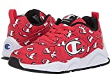 Champion Kids' 93Eighteen Repeat Logo Lace Up Sneaker Red 3 M US