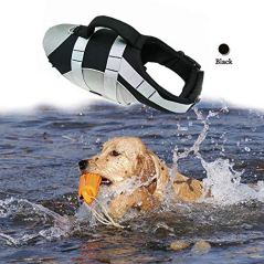 Wave-Riders-Reflective-Dog-LifeJacket-Super-Buoyancy-EVA-Lining-Adjustable-Dog-Safety-Vest-Small-Black