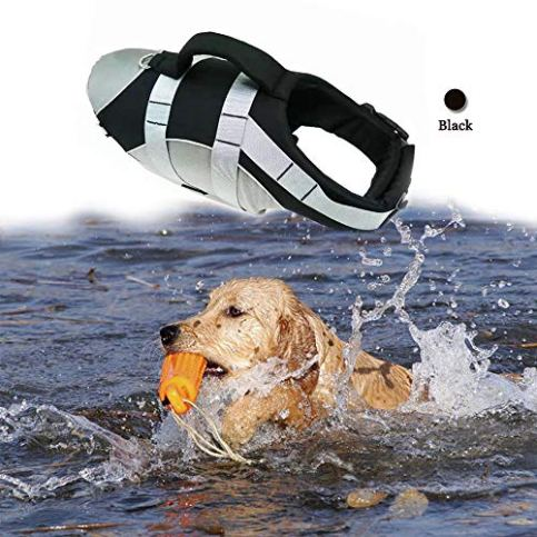BOCHO-Wave-Riders-Reflective-Dog-LifeJacket-Super-Buoyancy-EVA-Lining-Adjustable-Dog-Safety-Vest