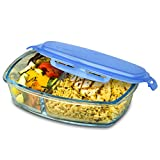 Smart Planet Pure Glass Bento Delux Meal Container, Clear