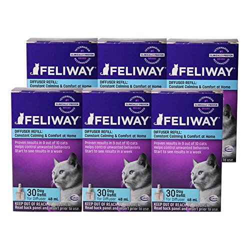 Feliway Plug-In Diffuser Refill, 48 mL, 6-Pack
