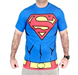DC Comics Superman Men's Performance Compression Athletic Costume T-Shirt (Adult X-Large)