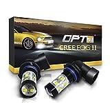 OPT7 H10 (9145 9140 9040) CREE XLamp LED DRL Fog Light Bulbs...