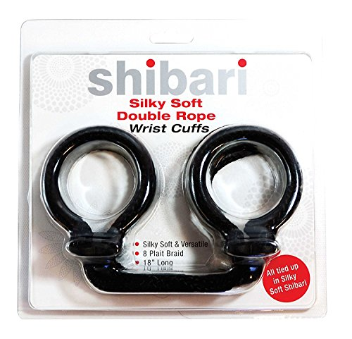 Shibari Double Rope Wrist Cuffs, Silky Soft, Fun and Durable, Gag Gift, No Fumbling with Knots!