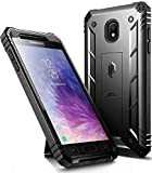 Galaxy J7 2018 Kickstand Rugged Case, Poetic Revolution Full-Body Rugged Heavy Duty Case with [Built-in-Screen Protector] for Samsung Galaxy J7 V 2nd Gen / J7 Refine /J7 Star/J7 Crown / J7 Top Black