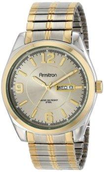 Armitron Men's 204591GYTT Two-Tone Expansion Band Dress Watch