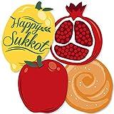 Sukkot - Apple, Pomegranate, Etrog and Challah Decorations DIY Sukkah Jewish Holiday Essentials - Set of 20