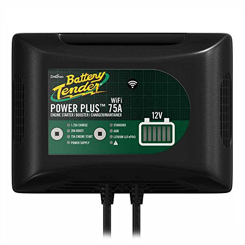 Battery Tender 022-0227-DL-WH Power Plus 75Amp Battery Charger For Batteries Big & Small, 20Amp Battery Booster, 1.25 Amp Charger and Maintainer. Get Alerts with WiFi Capabilities