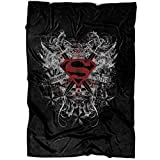 "OHIOSTORE Superman Symbol Soft Fleece Throw Blanket, Honor Truth Fleece Luxury Blanket (Large Blanket (80""x60""))"