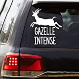 CELYCASY Gazelle Intense Vinyl Decal - Proverbs 6:5 - Dave Ramsey Inspired Decal - Car Decal - Debt Free Decal - Debt Free Community